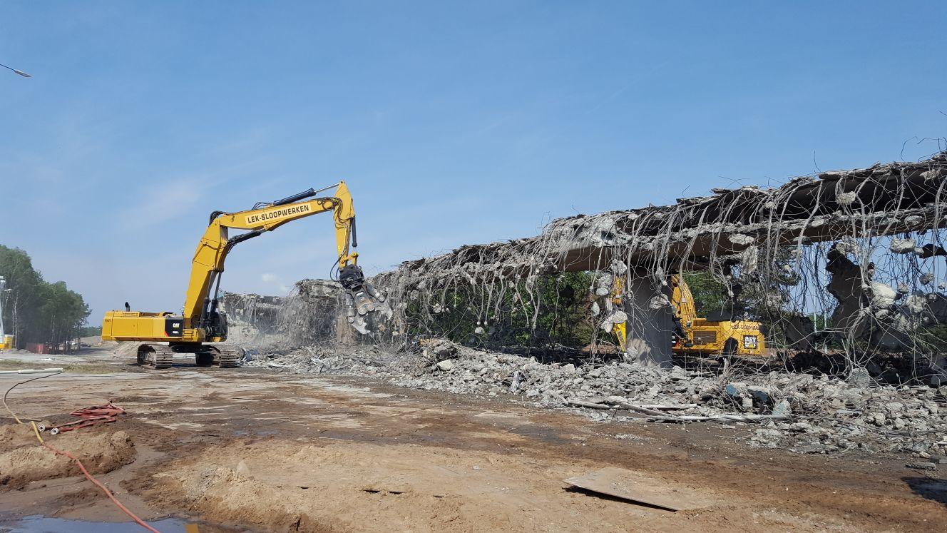 06/2018 Demolition overpass A27 Hilversum, the Netherlands