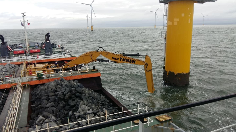 10/2018 Bescherming voor windmolens – vanaf de HAM 602, Liverpool UK